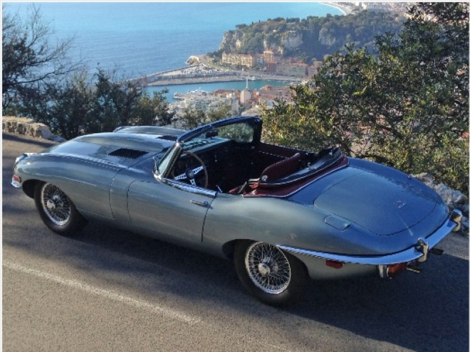Rent A Convertible Jaguar EType In Monaco With Easy Car Booking - Classic cars nice