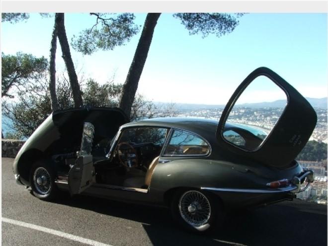 louez une jaguar type e coup 2 2 nice avec easy car booking description de la voiture. Black Bedroom Furniture Sets. Home Design Ideas