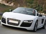 Rent the Sport Car Audi R8 Spyder (Auto) - Luxury Convertible Automatic Sports Vehicle Car Rental Hire in Antibes Golfe Juan Nice Cannes Mandelieu