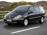 Car Rental Citroën C8 with driver on the French Riviera - family minivan luggage space with driver economic fuel efficient rental hire in South of France Juan Les Pins
