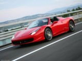 Luxury car rental   Ferrari 458 Spider - luxury convertible sports vehicle with driver modern experience South of France hire rent in Antibes Cannes Juan Les Pins Monaco Nice Mandelieu