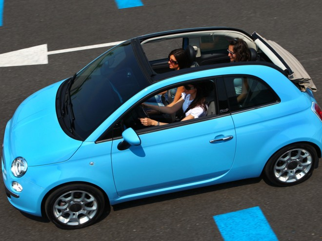 rent a fiat 500 convertible in nice with easy car booking car